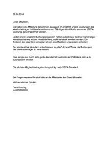 Erklärungsschreiben für die Mitglieder für die HP