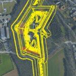 Luftbild und Schema des Fort IV